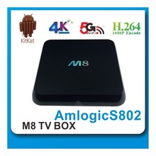 mini pc androd m8 s802 quad core tv box android 4.4 tv box xbmc13.2 built-in wifi and bluetooth