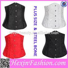 sexy fashion steel boning underbust corset waist training