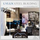 Prefab star hotel interior design lounge bar area 3D rendering plan