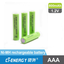 industrial battery NiMH type AA rechargeable battery 1.2V 800mAh