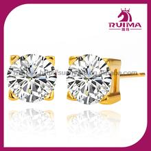 Ruima jewelry white ziron CNT set gold plated base stude weeding ornaments