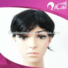 Top Selling Brazilian Virgin Short Full Lace Wig For Men's Wig