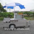 Shanghai yiying yy-hs200a nuevo!! Crema de hielo carrito/móvil remolque de vacaciones/móvil de camiones de comida/de comida rápida del quiosco, carros de comida para de sal