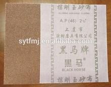 very polur aluminium oxide abrasive cloth sheet for metal