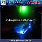 glass furniture LED glass chinese tea table set