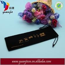 Custom Black Long Velvet Bags for Pens