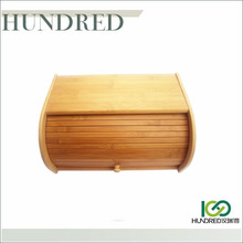 Totally Bamboo Material food safe Bamboo Bread Bin for storage, Hot sale bamboo bread storage box