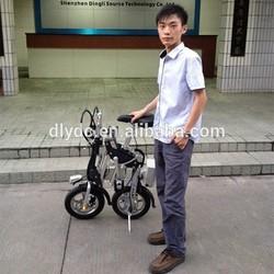 2014 Aluminum light weight mini folding electric bike with CE Certificate