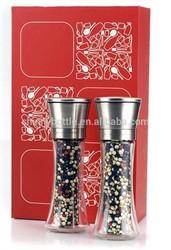 wholesale pepper spray stainless steel salt and pepper set salt grinder