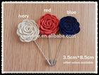 felt flower men's lapel pin,brooch metal crafts for men