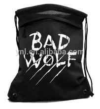 Screenprint Backpack - drawstring cinch bag werewolf grunge doctor who