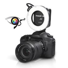 DSLR ring flash AHL-C60 Aputure camera macro ring flash led light for Canon