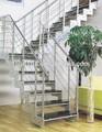 Aço residencial balaustrada corrimão dobráveis escadas