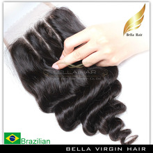 Hot new products 3 middle parting lace closure, unproccessed 100% human hair swiss lace closure