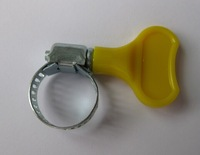 8mm Galvanized hose clamp with Butterfly plastic handle American type