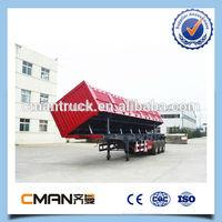 China 40ton 3 axles side dump truck trailer china manufacturer big loading capacity