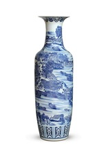 Chinese high grade Antique Hand painted tall ceramic Decoration vase