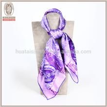 100 silk women muslim hijab scarf screen printed scarf