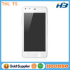 Cheap Android Phone THL T5 Latest China Mobile Phone Android 4.2 MTK6572 Dual Core 1.2Ghz RAM512Mb+ROM4G Smartphone