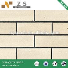 split brick tile 60*240*11mm terracotta panel ceramic clay building various color rustic natural red