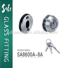 stainless steel chrome finish round knob door lock