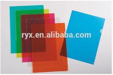 A4 size plastic pp file folder L shape folder, report file with transparent