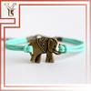Magnetic Antique Elephant Wrap Leather Bracelet Clasp