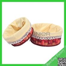 New style natural wood Cchip arts & crafts baskets /sock storage organizer /desktop organizer