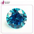 AAA blue loose round synthetic cubic zirconia ceylon gems stone