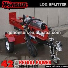 Hot sale!firewood processor ariens beautiful design vacuum tire 42 ton gas log splitter