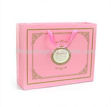 pink luxury cosmetic set packaging paper bags