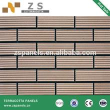split brick tile 60*240*11mm terracotta panel ceramic color Lemon Oyster White Yellow Oyster White