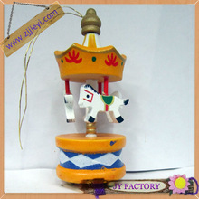 Christmas decoration mini carousel / wooden merry go round