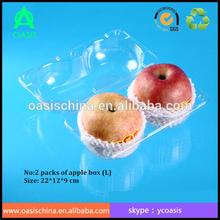 diameter 85-90 apple/ orange use plastic box/ clear plastic apple fruit packaging boxes