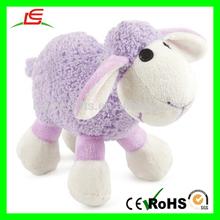 E050 Cute Stuffed Standing Plush Toy Purple Sheep