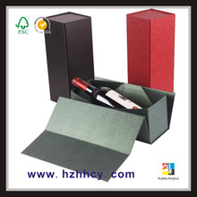 new folded special paper wine bottle gift box
