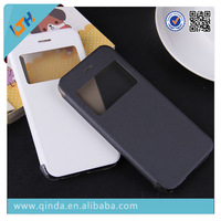 New design smart windows flip leather case for iPhone 6