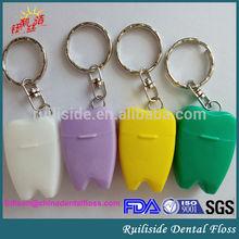 dental oral hygiene waxed mint/xylitol tooth shape dental flosser