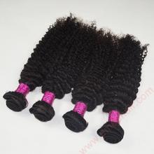 Afro kinky curly 100% indian human hair extensions deep wave virgin hair