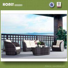 Aluminum frame outdoor furniture rattan sofa bed