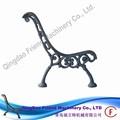 Fm- ser- 008 bancada de ferro dúctil pé de ferro fundido exterior ferro fundido banco de jardim da cadeira perna pernas de metal para o banco