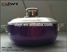 Aluminum Alloy Lid Covered Ceramic Cooking Pots