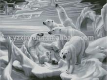 Fashion diy art.diamond painting,2014 new pictures. 5537 Polar Bear-01