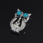 2014 New Arrival Product Zinc Alloy Sliver Owl Floating Charm F359