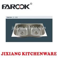 modern stainless steel kitchen metal trough
