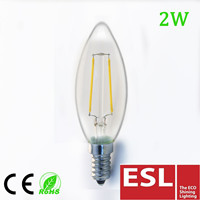 tip candle led filament bulb, CE/SAA approval led filament lamp