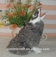 Factory direct simulation of fur wolf figurine resin cheap animal figurine
