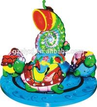 Fantastic design !!! Turtle Carousel for Four coin-operated mini carousel game machine