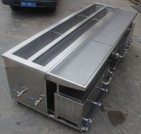 Skymen ultrasonic blind cleaning machine with double tanks CE