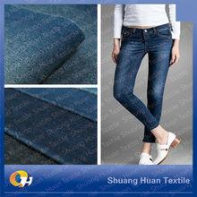 SH-W694 12OZ Stock Lot 100 Cotton Indigo Blue Slub Ring Denim Jean Fabric